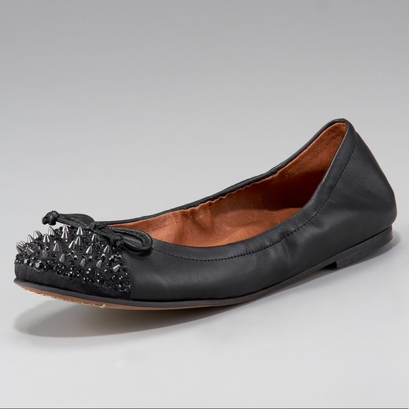 Sam Edelman Shoes - Sam Edelman black Beatrix spiked toe ballet flat